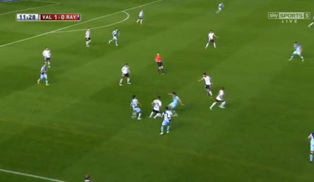 Rayo Vallecano's aggressive counterpress.