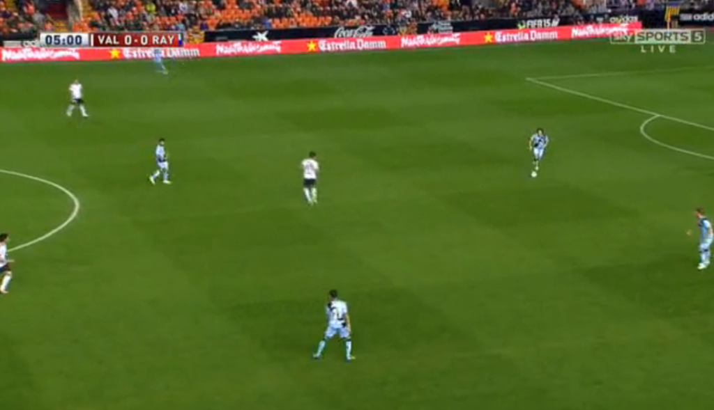 Vallecano building out of the back under Paco Jemez's Positional Play.