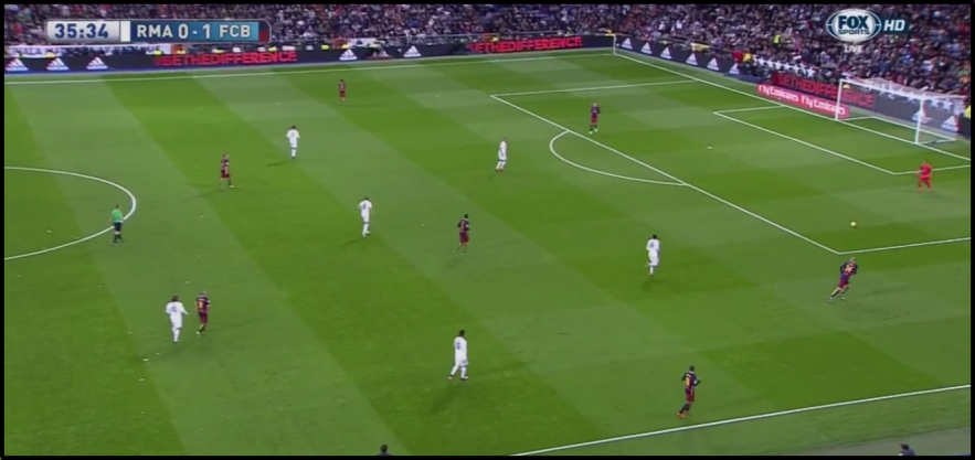 Madrid's 4-1-3-2 press