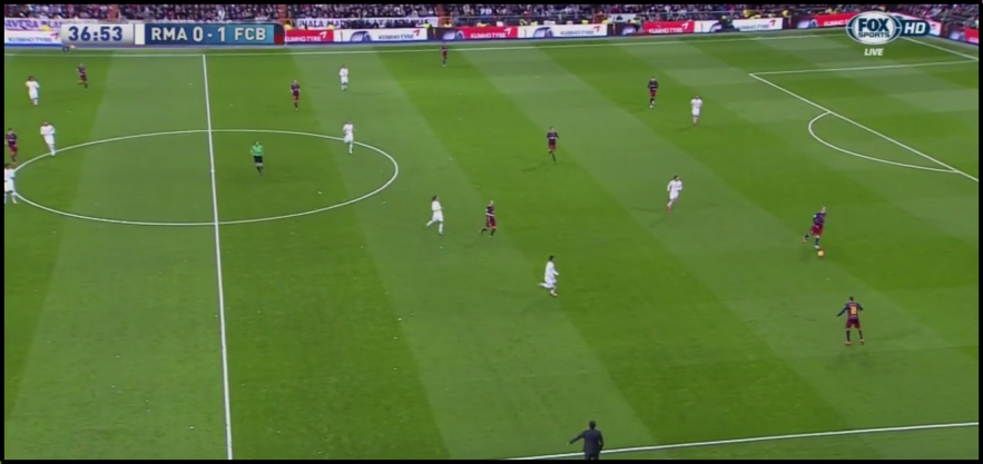 Barcelona still had positional issues without the full effect of positional play.