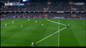 Valencia's 4-1-4-1 caused problems in connection for their transitions