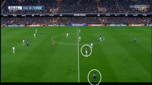 A variation on the left with Marcelo moving inside