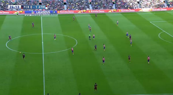 Atléti moved deeper into their more usual mid/low-block.