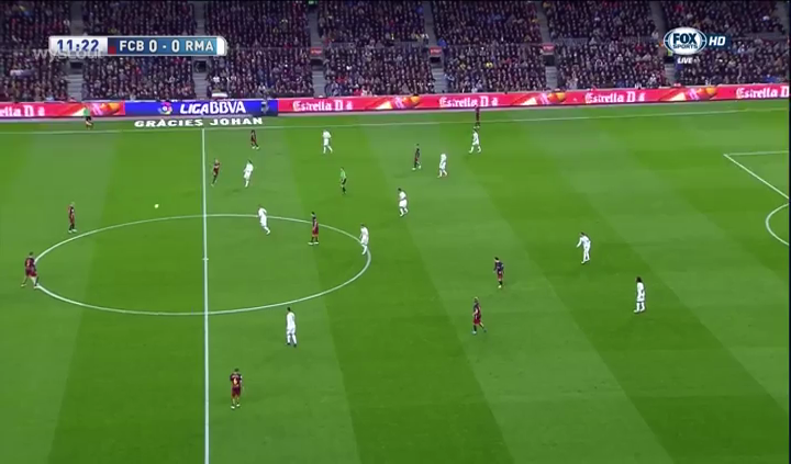 Madrid's man-oriented defence.