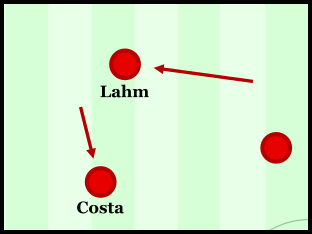 Lahm took on a wider role to begin the game.