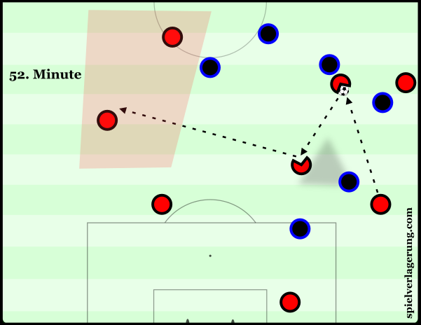 Kucka eventually provided Milan with a route to Locatelli, allowing him to dictate the direction of play.